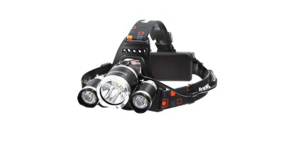 InnoGear 5000 Lumens Headlamp LED Flashlight Bright Headlight Torch with Rechargeable Batteries