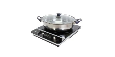 Rosewill 1800-Watt Induction Cooker Cooktop with Stainless Steel Pot