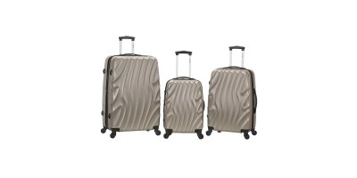 3 Piece Abs Luggage Set Rockland Melbourne – Silverwave One Size