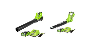 GreenWorks BA40L210 G-MAX 40V 115MPH – 430 CFM Cordless Brushless Blower, 2Ah Battery and Charger Included