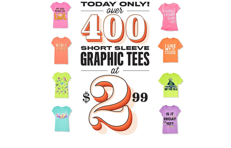 Graphic Tees for $2.99 with Free Shipping at The Children's Place