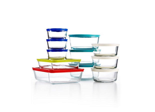 22 Piece Pyrex Food Storage Container Set For $24.99 At Macys