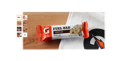 12 Count Gatorade Prime Fuel Bar, Chocolate Chip (45g of carbs, 5g of protein per bar)