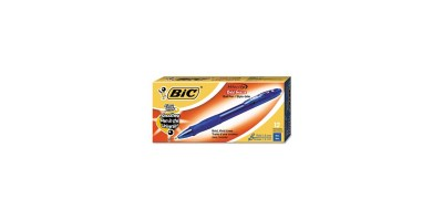 BIC Velocity Retractable Ballpoint Pen – Blue Ink 1.6mm  Bold – Dozen