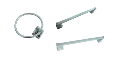 Glacier Bay Futura Towel Ring in Chrome and Futura 18 in. Towel Bar in Chrome
