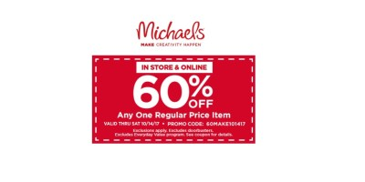 60% off Micheals