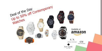 Deal of the Day – Up to 50% off Contemporary Watches from Daniel Wellington, Kate Spade, Armani Exchange, and More
