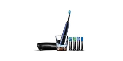 Philips Sonicare DiamondClean Smart Electric – Rechargeable toothbrushwith Charging Travel Case (5 modes and 8 9700 – Series Lunar Blue HX9957-51)