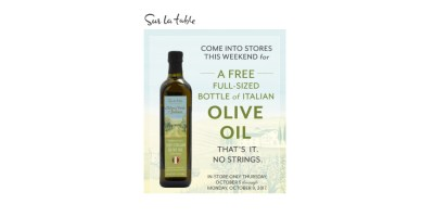 Sur la table Free olive oil