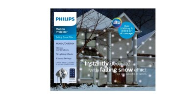 Philips Christmas Multicolored LED Falling Snowflake Projector with Remote