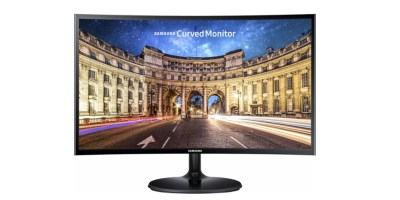 Samsung – 390 Series 24 LED Curved FHD FreeSync Monitor – High glossy black