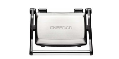 Chefman – Grill + Panini Press – Stainless Steel