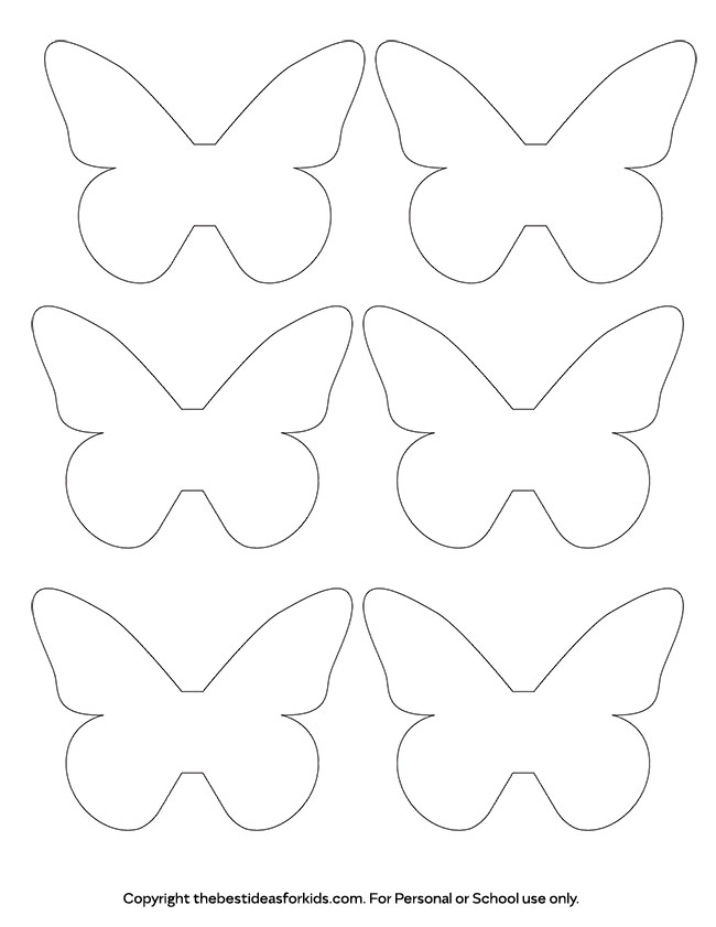 Butterfly Template - The Best Ideas for Kids - white paper template