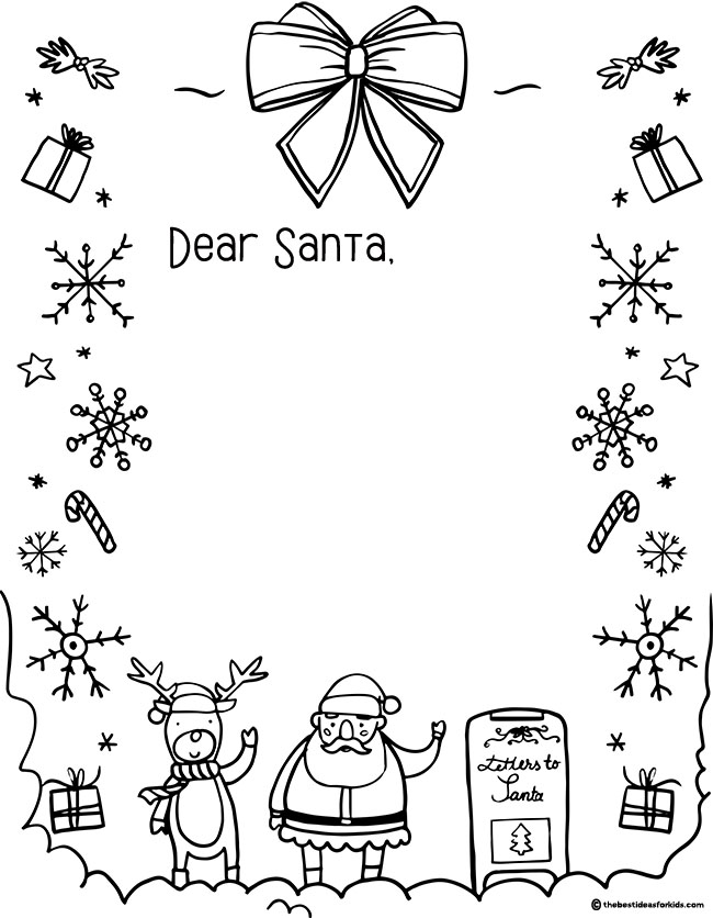 Letter to Santa Template - The Best Ideas for Kids