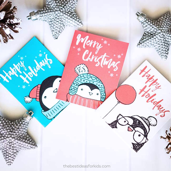 Free Penguin Christmas Card Printables - The Best Ideas for Kids