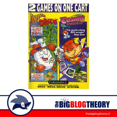 2 Games on One Cart: Fantastic Dizzy and Cosmic Spacehead cover front