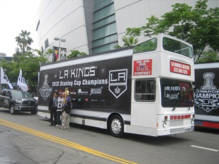 The L.A. Kings Victory Parade in Downtown Los Angeles