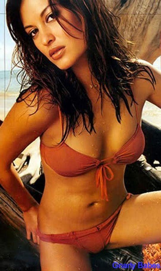 Malia Jones red bikini