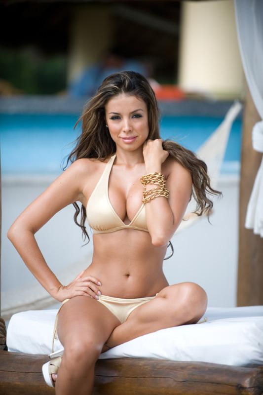 Sheer tan Bikini