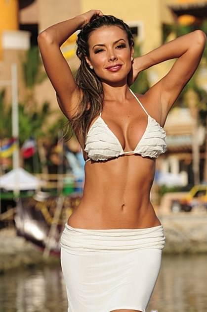 Peek a boo skirted thong bikini-1