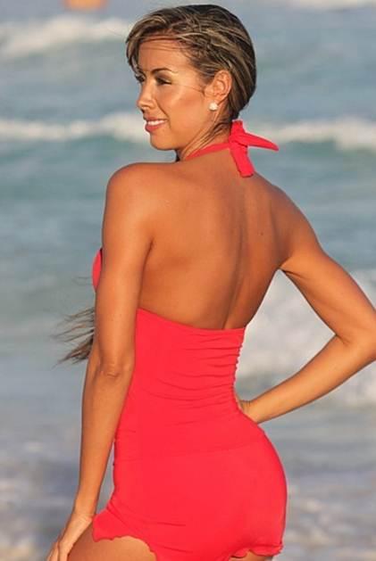 Swimdresses- Slimming Swimdress Red