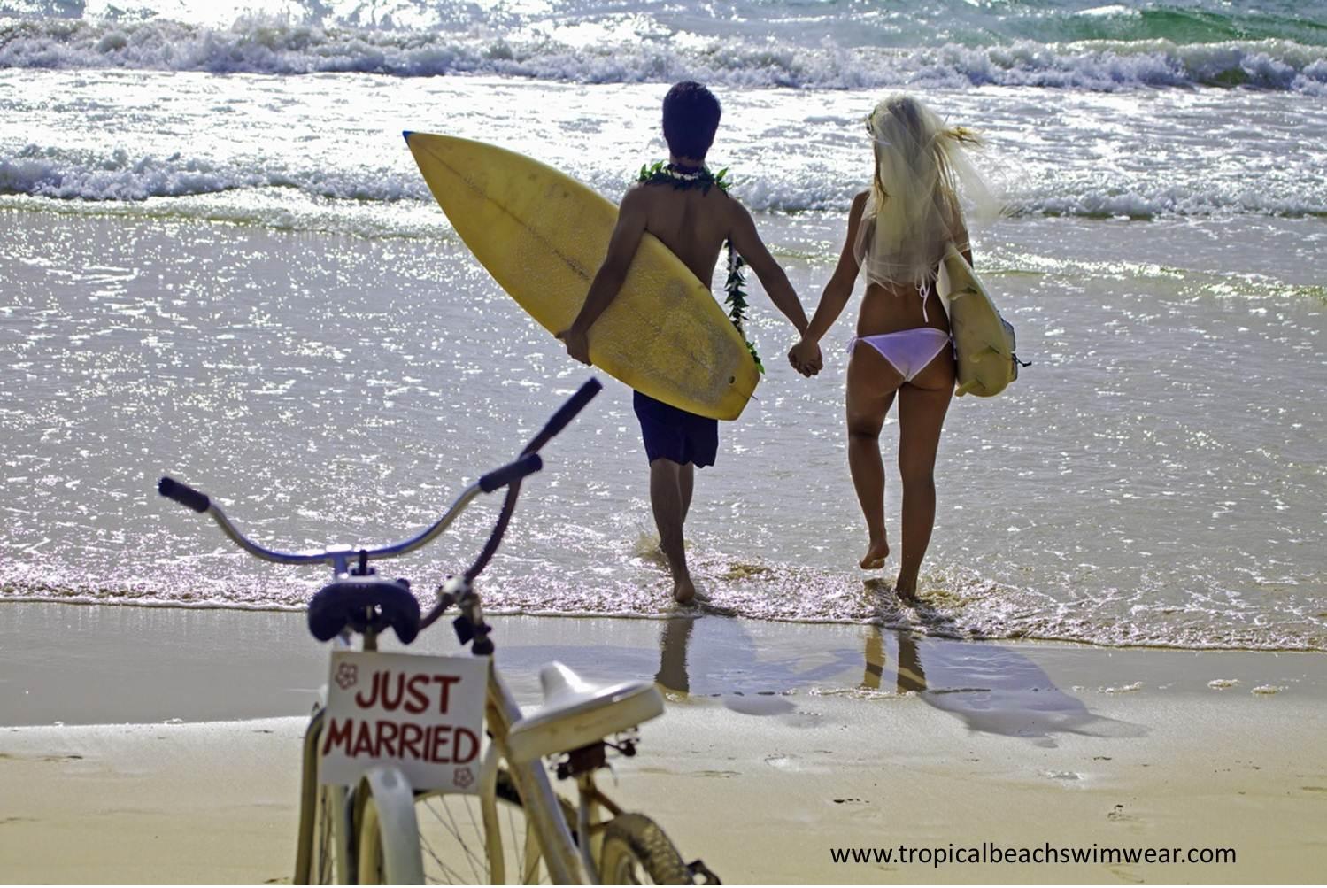 Beach weddings bikinis