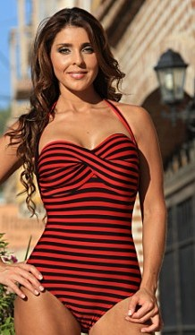 Bathing Suits for Women Over 40 Striped slimming