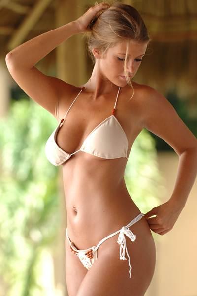 Bikinis For Women with Smaller Chests Sheer Cream Colored Bikini