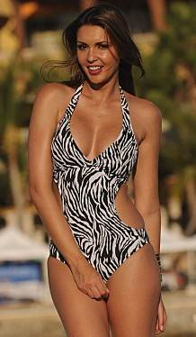 Cut-Out-Zebra-Print-Swimsuit