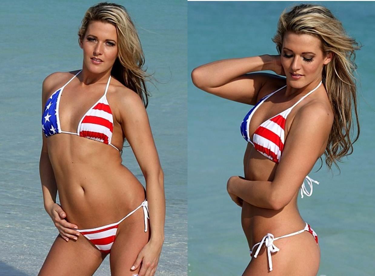 How to Buy your Girlfriend a Thong Bikini Patriotic Tonga Bikini