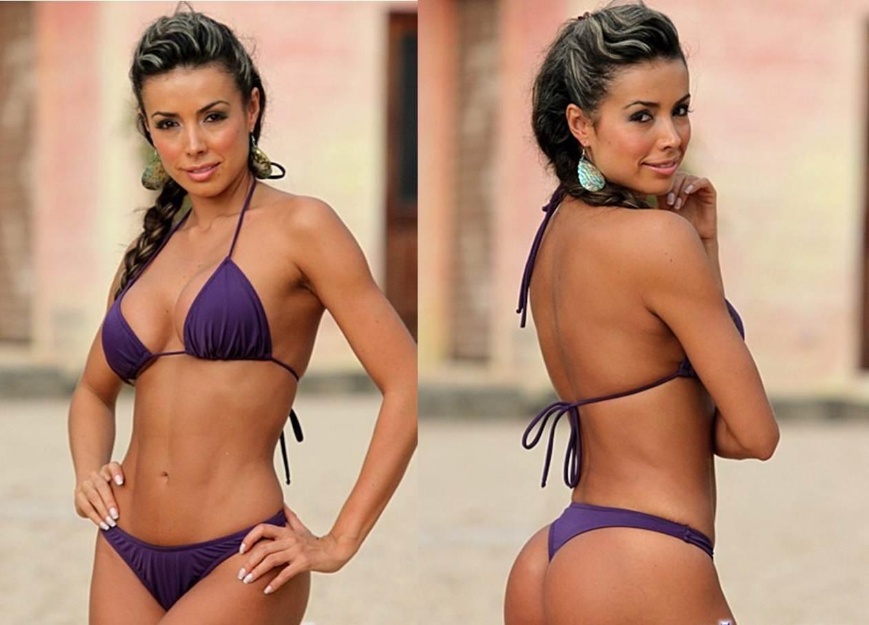 How to Buy your Girlfriend a Thong Bikini Purple Thong Bikini