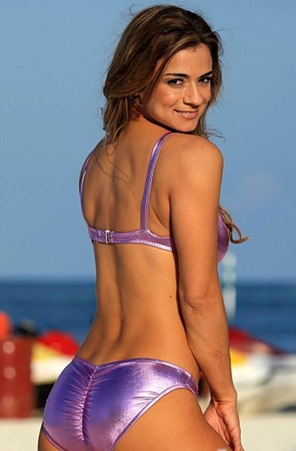 Scrunch Bikinis The perfect bikini for your butt purple metallic