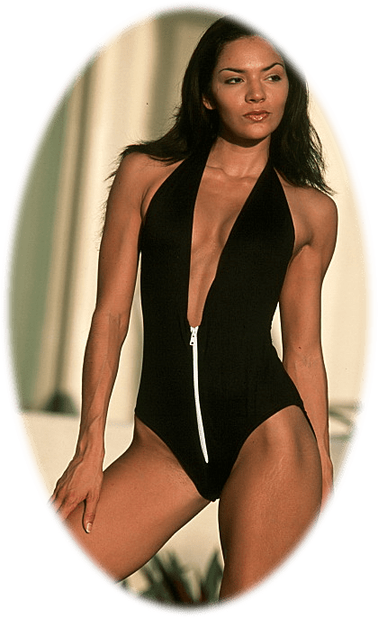 Black one piece swimsuit with zipper