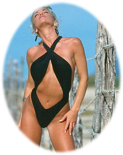 the sexy black pretzel one piece swimsuit