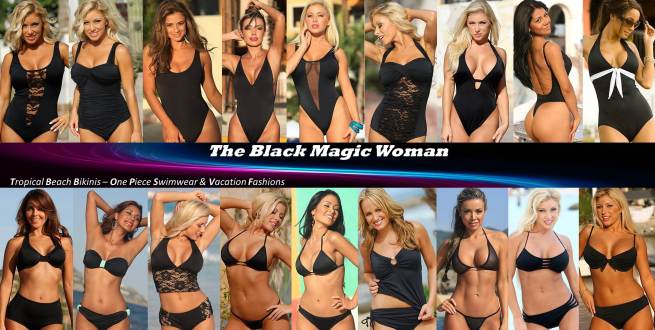 Black Bikinis - Black One Piece Swimsuits for the Black Magic Woman