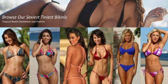 smallest, tiniest bikinis no filter