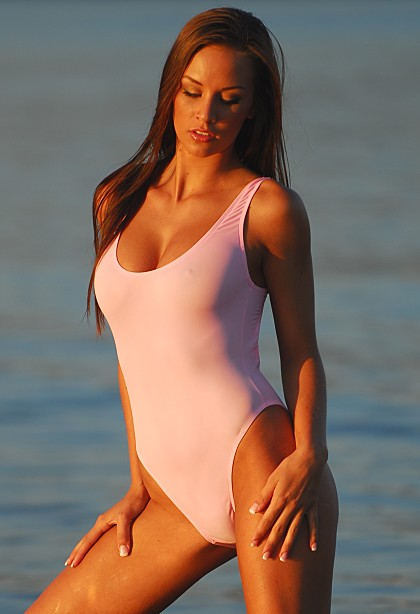 Sheer Double Dip One Piece Swimsuit