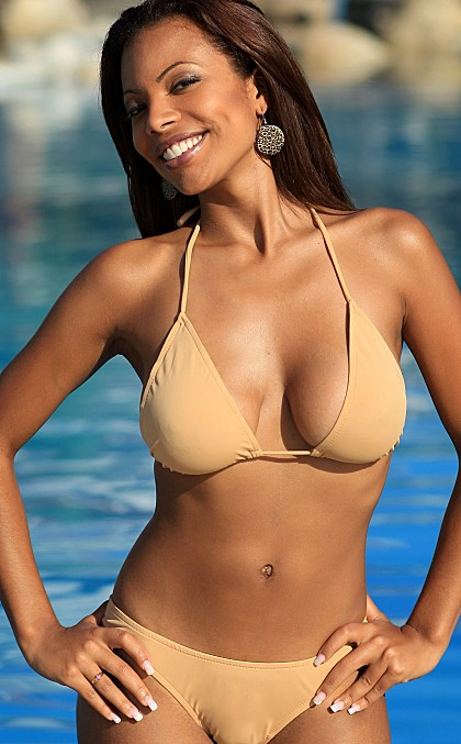 Sheer Tan Colombian Bikini