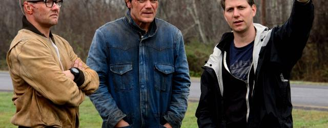 L-R: Joel Edgerton, Michael Shannon, Jeff Nichols on the set of MIDNIGHT SPECIAL