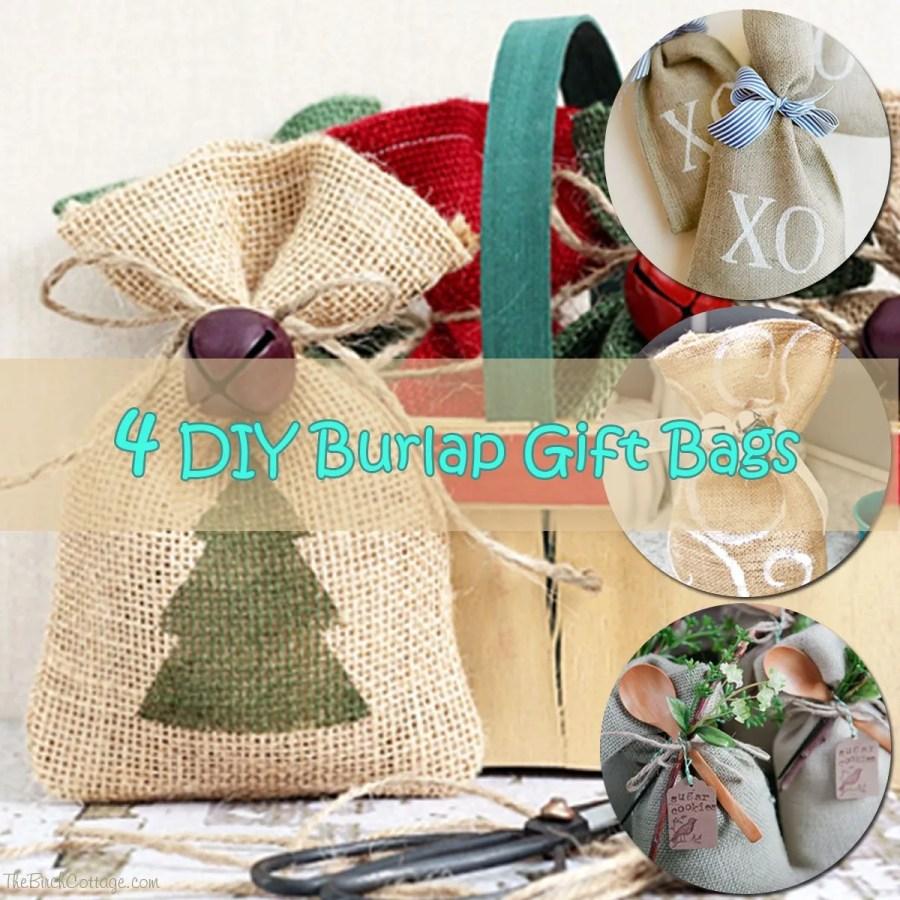 Burlap Wedding Favor Bags Diy : DIY burlap gift bag that caught my eye were these Burlap Favor Bags ...