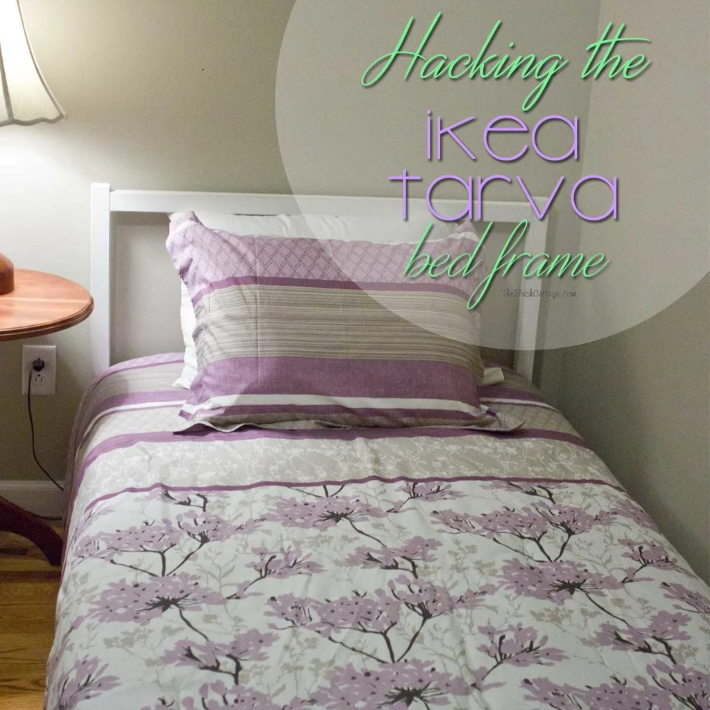 Ikea Floor Lamp Glass Shade Replacement ~   an ordinary Ikea Tarva bed frame into a shabby chalk painted bed