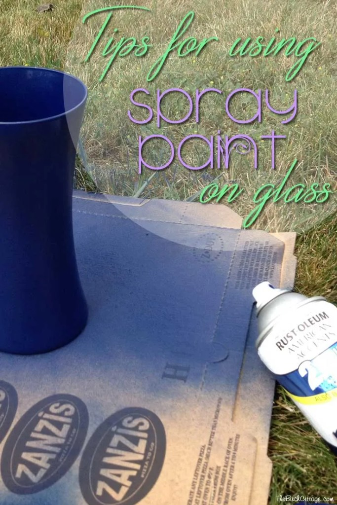 tips for using spray paint on glass the birch cottage. Black Bedroom Furniture Sets. Home Design Ideas
