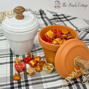 How to make Pumpkin Candy Dishes from Terra Cotta Pots