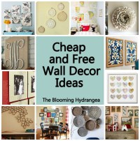 Cheap & Free Wall Decor Ideas Roundup