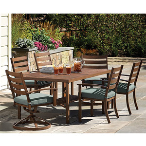 Awesome This Garden Glen Patio set at Walmart caught our eye as well although it has cushions which we would like to avoid The reviews are great and it us in our
