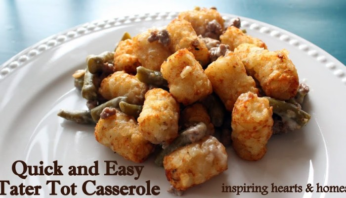Quick & Easy Tater Tot Casserole
