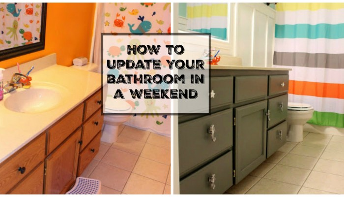 Tips & tricks for Updating Your Bathroom in a Weekend