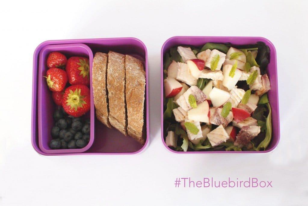 Lunch Box Insalata Di Pesce Spada Al Limone Con Pesche