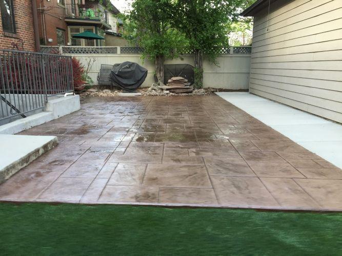 Milwaukee St Grading Concrete Patio French Drain Sump