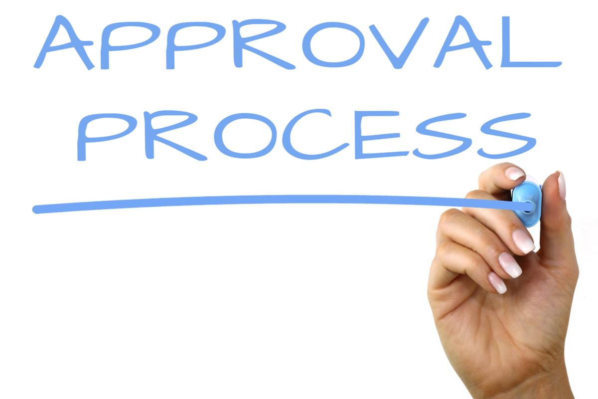 Approval Process Handwriting Image